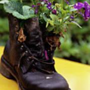 Flower Shoe Pot Art Print