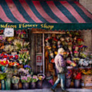 Flower Shop - Ny - Chelsea - Hudson Flower Shop  Art Print