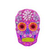 Flower Skull 2 Art Print