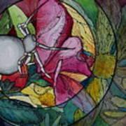 Flower Spider Art Print