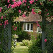 Flower Trellis England Art Print