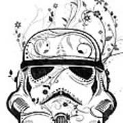 Flower Trooper Art Print