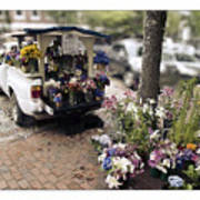 Flower Truck On Nantucket Art Print