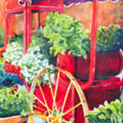 Flower Wagon Art Print