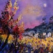 Flowered Landscape 569070 Art Print