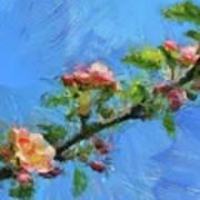 Flowering Apple Branch Art Print