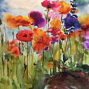 Wildflower Trail Art Print