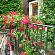 Flowers And Bikes Oh My Art Print