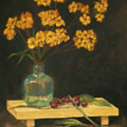 Flowers And Cherries Art Print