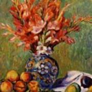 Flowers And Fruit 1889 Art Print