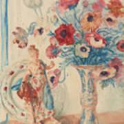 Flowers And Porcelain Art Print