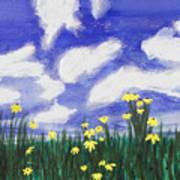Flowers Bright Field Art Print