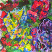 Flowers Color Sketch 1 Art Print