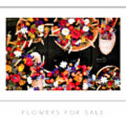 Flowers For Sale Poster Art Print