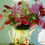 Flowers In A Teapot Art Print