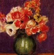 Flowers In A Vase 1901 Art Print