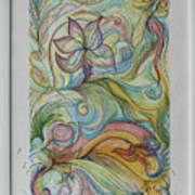 Flowers In Motion Art Print