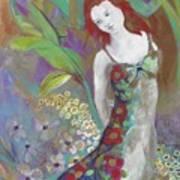 Flowers In The Garden Art Print