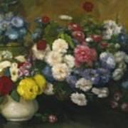 Flowers In Three Vases 1879 Art Print