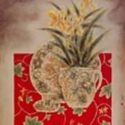 Flowers In Vase-nightngales  Art Print