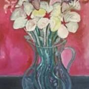 Flowers Inside Glass Pitcher Art Print