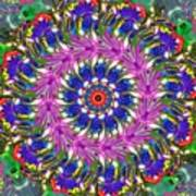 Flowers Of The Mind Number 2 Peacock Feathers Art Print