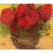 Flowers Red Art Print