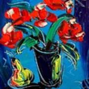 Flowers Roses Art Print