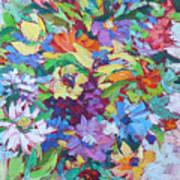Flowers Splash Art Print