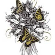 Flowers That Flutter Art Print