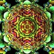 Flowerscales 61 Art Print