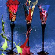 Flowery Cocktails Art Print by M Montoya Alicea