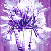 Flowery Purple II Art Print