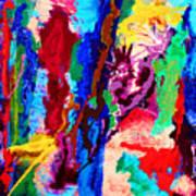 Flowing Contrasts Art Print