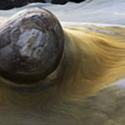 Flowing Rock 1 Art Print