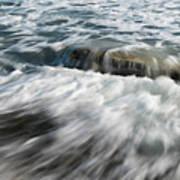 Flowing Sea Waves Art Print