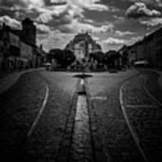 Flowing Street Of Kosice Art Print