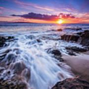 Flowing Sunset Art Print