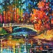 Flowing Under The Bridge  Art Print