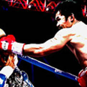 Floyd Mayweather And Manny Pacquiao Going At It Art Print