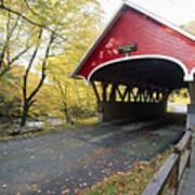 Flume Bridge Lincoln New Hampshire Art Print