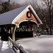 Flume Covered Bridge - Lincoln New Hampshire Usa Art Print