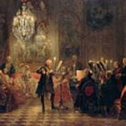 Flute Concert With Frederick The Great In Sanssouci Art Print
