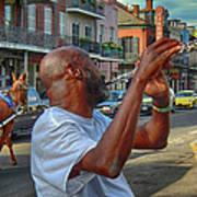 Flute Musician In New Orleans Art Print