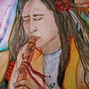 Flute Player Art Print