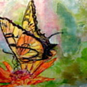 Flutterby - Watercolor Art Print