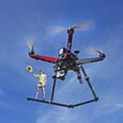 Flying A Drone Art Print