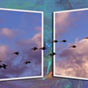 Flying Across Art Print