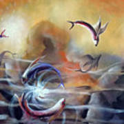 Flying Fishes Art Print