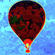 Flying High - Hot Air Balloon Art Print